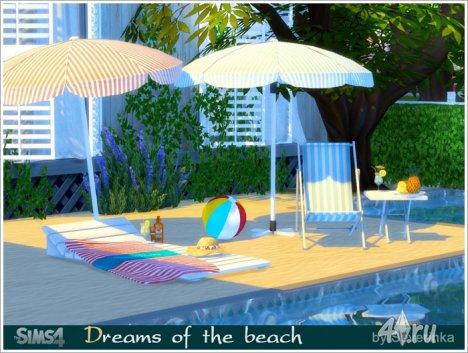 """Набор мебели и декора """"Мечты о пляже"""" от Severinka для The Sims 4"""