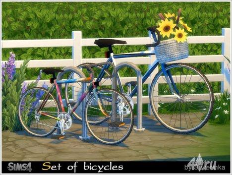 Набор декоративных велосипедов от Severinka для The Sims 4