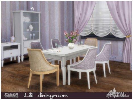 """Столовая """"Лилит"""" от Severinka для The Sims 4"""