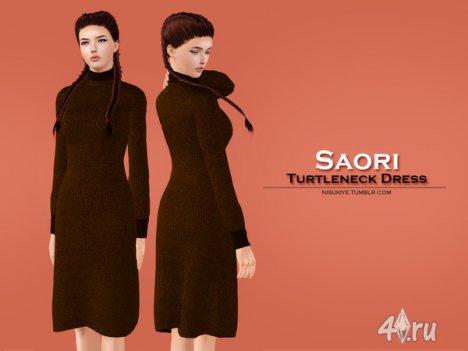 "Платье ""Saori"" от Nisukiye для Симс 3"