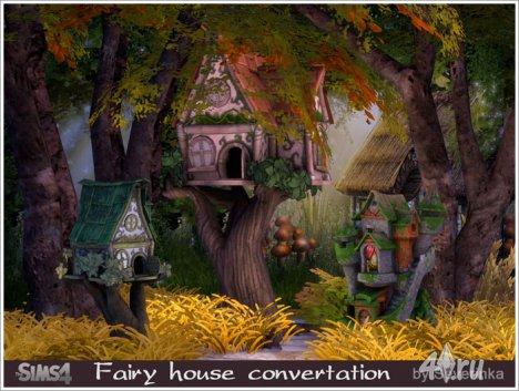 Домики для фей от Severinka для The Sims 4