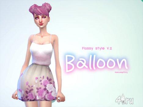 """Платье """"Воздушный шар"""" от manueaPinny для The Sims 4"""