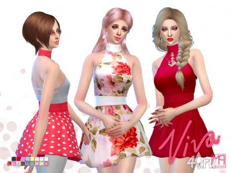 """Платье """"Да здравствует"""" от manueaPinny для The Sims 4"""