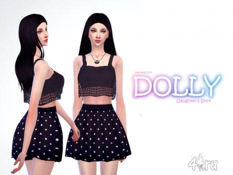 """Юбка """"Куколка"""" от manueaPinny для The Sims 4"""