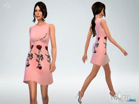 Платье от SLYD для The Sims 4