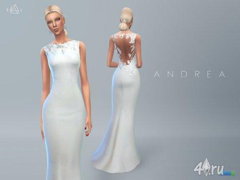 "Платье ""Andrea"" от SLYD для The Sims 4"