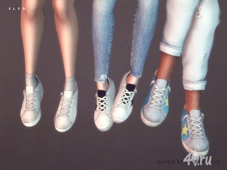 """Кроссовки """"Super Star"""" для мужчин и женщие от SLYD для The Sims 4"""