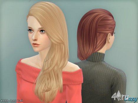 """Женская прическа """"Последний звонок"""" от Cazy для The Sims 4"""