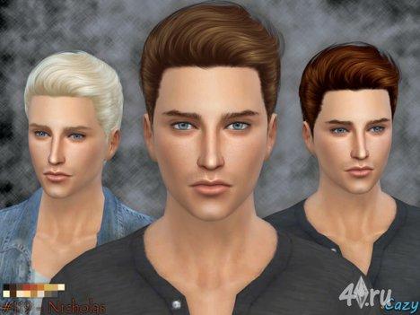 "Мужская прическа ""Николас"" от Сazy для The Sims 4"