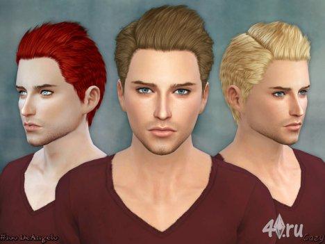 """Мужская прическа """"DeAngelo"""" от Cazy для The Sims 4"""