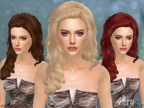 """Женская прическа """"Рулетка"""" от Cazy для The Sims 4"""