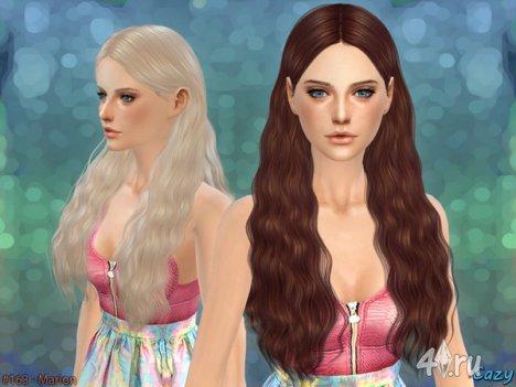 """Женская прическа """"Марион"""" от Cazy для The Sims 4"""