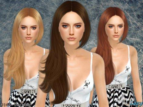 """Женская прическа """"Рошель"""" от Cazy для The Sims 4"""