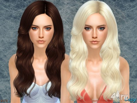 """Женская прическа """"Капли дождя"""" от Cazy для The Sims 4"""
