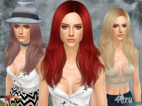 """Женская прическа """"Миллер"""" от Cazy для The Sims 4"""
