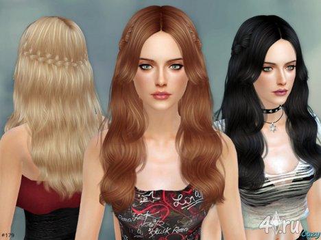 """Женская прическа """"Сэнди"""" от Cazy для The Sims 4"""