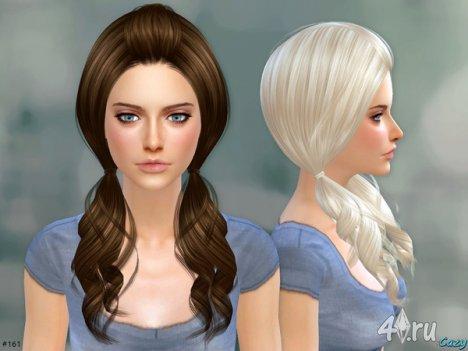 """Женская прическа """"Элли"""" от Cazy для The Sims 4"""