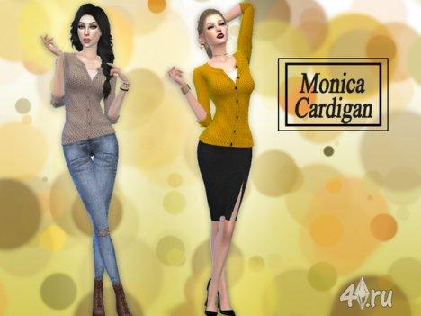 """Кардиган """"Моника"""" от hutzu2 для The Sims 4"""
