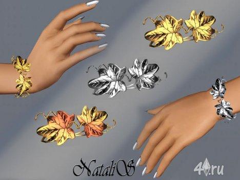 """Браслет """"Виноградные листья"""" от Natalis для The Sims 3"""