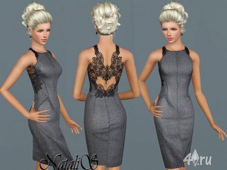 Платье с кружевной спиной от Natalis для The Sims 3