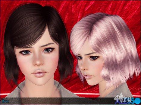 """Прическа """"Burn"""" от Anto для Симс 3 в формате sims3pack"""