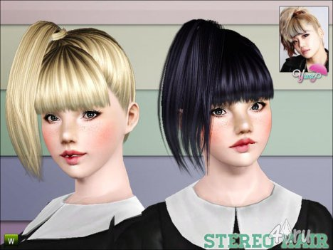 """Прическа """"Стерео"""" от Yume для Симс 3 в формате sims3pack"""