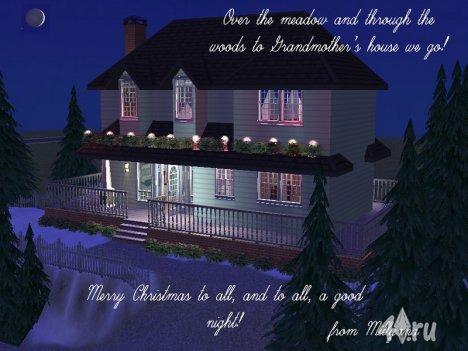 Бабушкин дом от Mylliana для Симс 2 в формате sims2pack