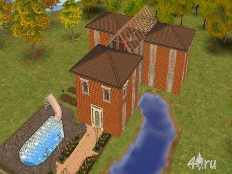 "Дом для двух семей ""Долина истоков"" от TomTho для Симс 2 в формате sims2pack"