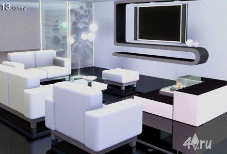 """Набор мебели и декора """"Ювента"""" от Severinka для Симс 3 в формате sims3pack"""