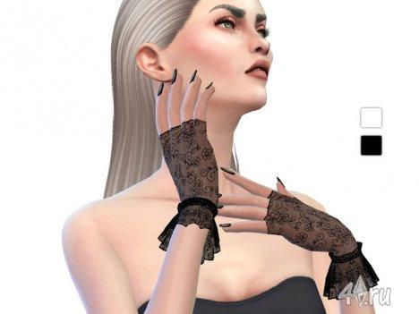 Кружевные перчатки от Ms Blue для Симс 4