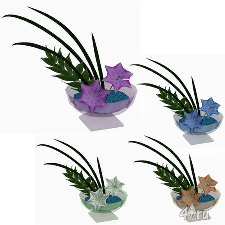 Сет комнатный растений от BuffSumm для The Sims 3