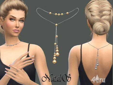 Ожерелье на спину от Natalis для The Sims 4