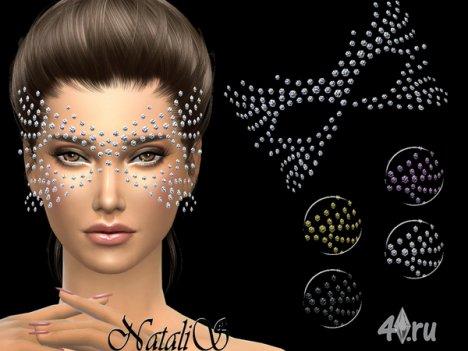 Кристальная маска от Natalis для The Sims 4