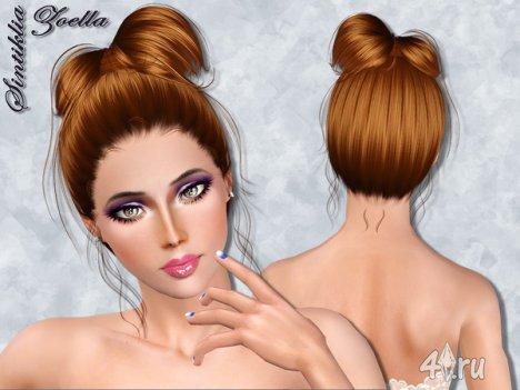 """Женская прическа """"Зоэлла"""" от Sintiklia для The Sims 3"""