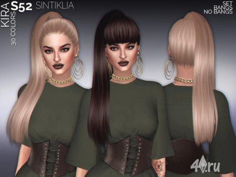 """Женская прическа """"Кира"""" от Sintiklia для The Sims 4"""