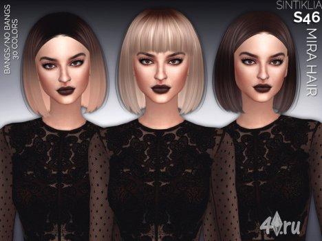 """Женская прическа """"Мира"""" от Sintiklia для The Sims 4"""