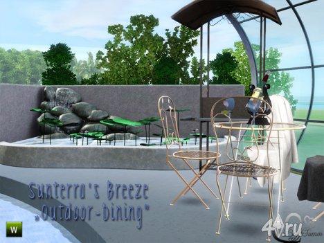 Столовая на открытом воздухе от BuffSumm для The Sims 3