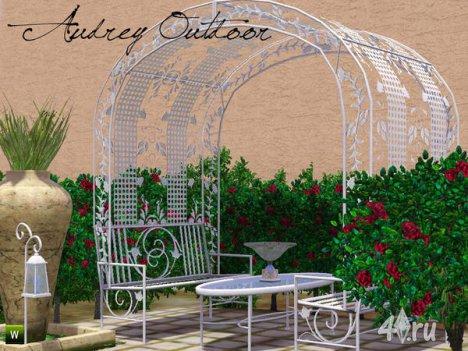Набор мебели и декора для сада