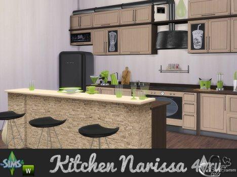 """Кухня """"Нарисса"""" от BuffSumm для The Sims 4"""