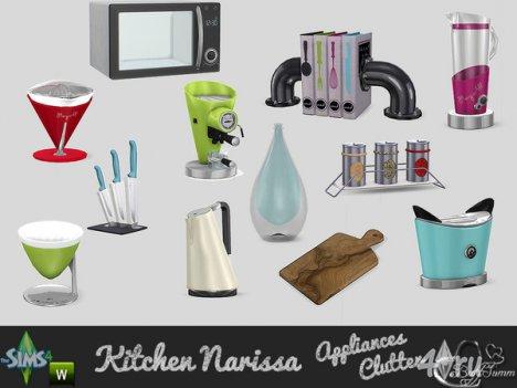 Набор кухонной техники и декора от BuffSumm для The Sims 4