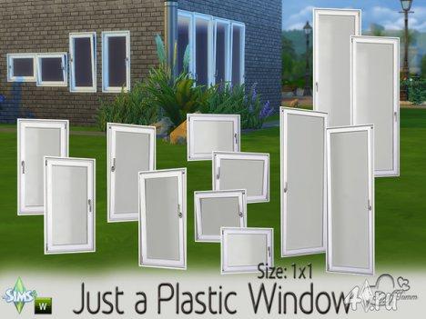 Сет пластиковых окон 1х1 от BuffSumm для The Sims 4