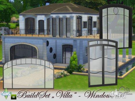 Сет окон и дверей для виллы от BuffSumm для The Sims 4