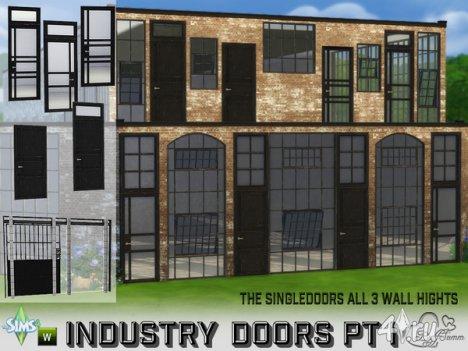 Сет одностворчатых окон и дверей от BuffSumm для The Sims 4