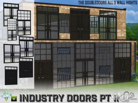 Сет двустворчатых окон и дверей от BuffSumm для The Sims 4
