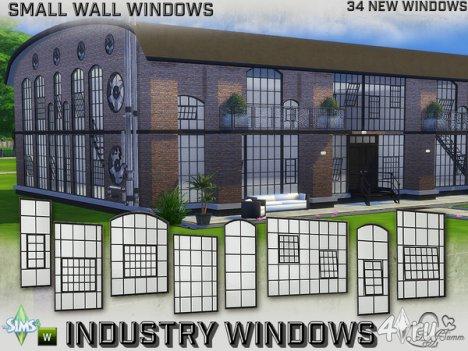 Сет окон для стен маленького размера от BuffSumm для The Sims 4