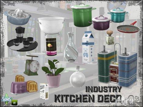 Декор для кухни от BuffSumm для The Sims 4