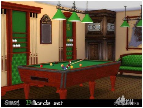 Бильярдная от Severinka для The Sims 4