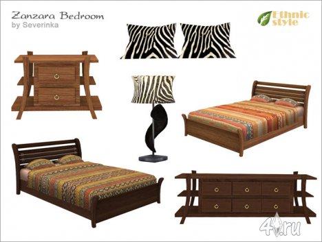 Спальня в этническом африканском стиле от Severinka для The Sims 4
