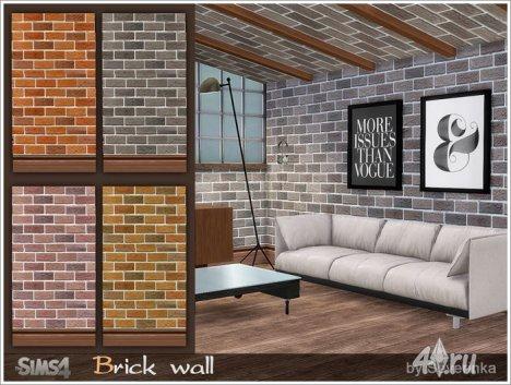 Покрытие для стен (кирпичная кладка) от Severinka для The Sims 4