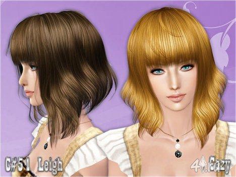 "Женская прическа ""Leigh"" от Cazy для The Sims 2, The Sims 3"